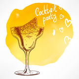 Cocktail with crushed ice Royalty Free Stock Photos
