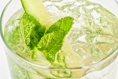 Cocktail with cucumber Stock Photo