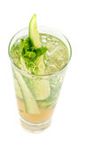 Cocktail with cucumber Stock Image