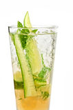 Cocktail with cucumber Royalty Free Stock Image