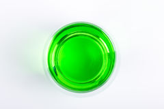 Cocktail. A cup of green color cocktail Stock Images