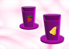 The cocktail cups royalty free illustration