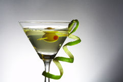 Cocktail and curl Stock Image