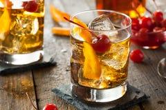 Cocktail démodé fait maison photographie stock libre de droits