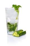 Cocktail d'épinards de concombre photos libres de droits