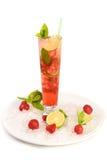 Cocktail d'été - fraise Mojito Photos libres de droits