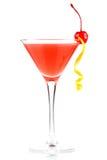 Cocktail d'alcool avec le jus et la grenadine d'orange Photographie stock libre de droits