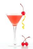 Cocktail d'alcool avec le jus et la grenadine d'orange Photos libres de droits