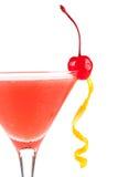 Cocktail d'alcool avec le jus et la grenadine d'orange Image libre de droits