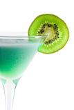 Cocktail d'alcool avec le kiwi en glace de martini Image libre de droits
