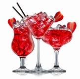Cocktail d'alcool d'isolement sur le fond blanc Photo stock