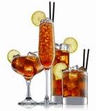 Cocktail d'alcool d'isolement sur le fond blanc Images libres de droits