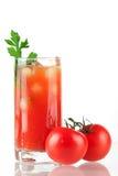 Cocktail d'alcool de Mary de sang Images libres de droits