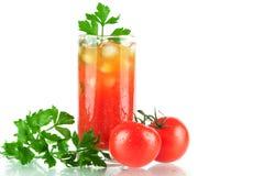 Cocktail d'alcool de Mary de sang Image libre de droits