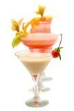 Cocktail d'alkékenge sur les cocktails brouillés Photo libre de droits