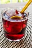 Cocktail d'Americano avec le citron et la glace Image libre de droits
