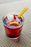 Cocktail d'Americano avec le citron et la glace Photographie stock libre de droits