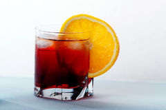 Cocktail d'Americano et de Negroni Photographie stock libre de droits