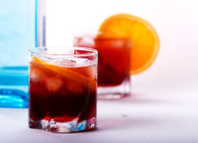 Cocktail d'Americano et de Negroni Photo stock