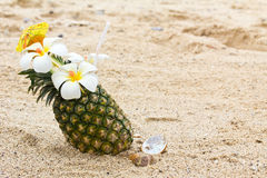 Cocktail d'ananas image stock