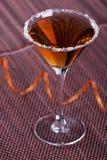 Cocktail d'or en glace de martini Image libre de droits