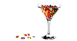 Cocktail da droga Imagens de Stock
