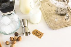 Cocktail da gemada fotografia de stock royalty free