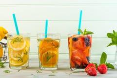 Cocktail da água da desintoxicação Imagem de Stock Royalty Free
