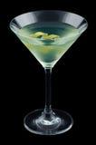 Cocktail da joia com torção do limão isolado no fundo preto imagens de stock