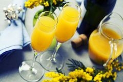 Cocktail da mimosa Imagens de Stock Royalty Free
