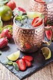Cocktail da mula de Moscou Fotografia de Stock