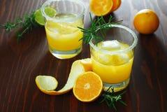 Cocktail da tangerina com alecrins Fotografia de Stock Royalty Free