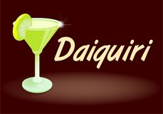 Cocktail Daiquiri. Fresh ice frozen alcoholic drink bar cocktails Daiquiri The most-ordered rum drink in the world fruity favorite is made with lime juice white Royalty Free Stock Photos
