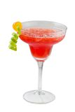 Cocktail Daiquiri. Glass of lime cocktail with ice cubes. Daiquiri stock photography