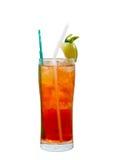 Cocktail de Americano com gelo na tabela Foto de Stock