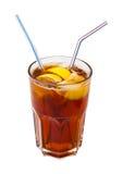 Cocktail de Brown d'isolement sur le blanc Images stock