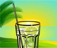 Cocktail de Caipirinha com fundo Foto de Stock