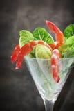 Cocktail de camarão com Cos Lettuce fotografia de stock
