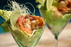 Cocktail de camarão do cal Imagens de Stock