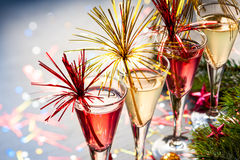 Cocktail de Champagne Imagens de Stock