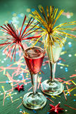 Cocktail de Champagne Fotos de Stock