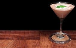Cocktail de chocolat avec la menthe fraîche image libre de droits