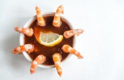 Cocktail de crevette rose Photographie stock
