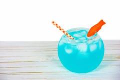 Cocktail de cuvette de poisson rouge Images libres de droits