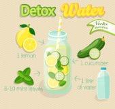 Cocktail de Detox, Image libre de droits