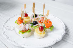 Cocktail de fruits de mer Photographie stock libre de droits