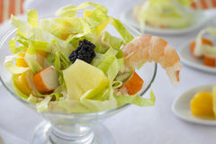 Cocktail de fruits de mer Photographie stock libre de droits