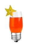 Cocktail de fruta da ampola Foto de Stock Royalty Free