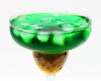 Cocktail de fruta verde imagem de stock royalty free