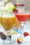 Cocktail de fruto da paixão fotografia de stock royalty free